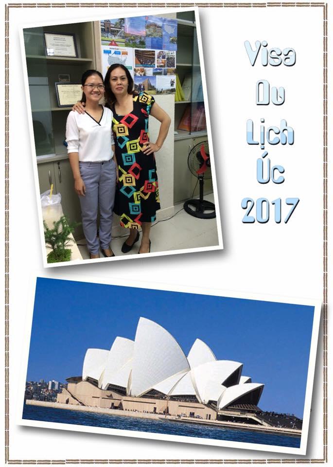 Chúc mừng khách hàng đậu visa du lịch Úc 2017