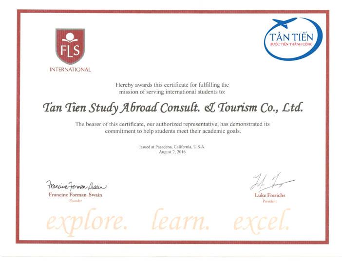 Du học Mỹ cùng đối tác của Tân Tiến -  FLS International
