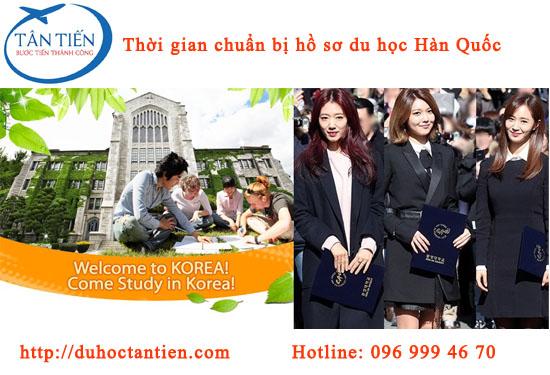 Thời gian chuẩn bị hồ sơ du học Hàn Quốc?