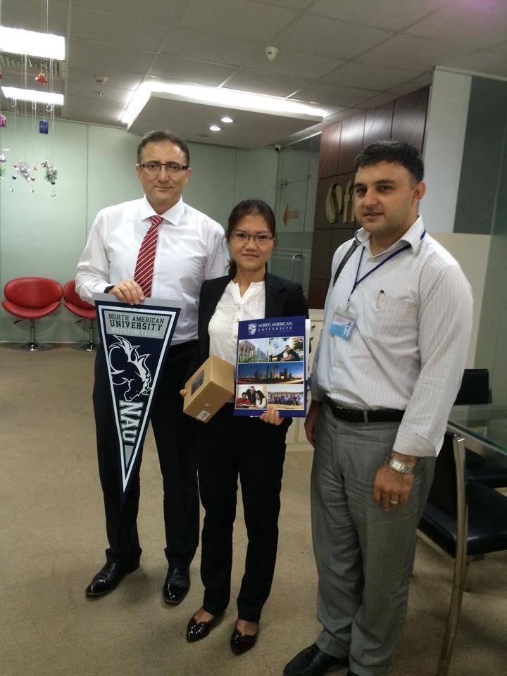 Trường đối tác North American University ghé thăm du học Tân Tiến