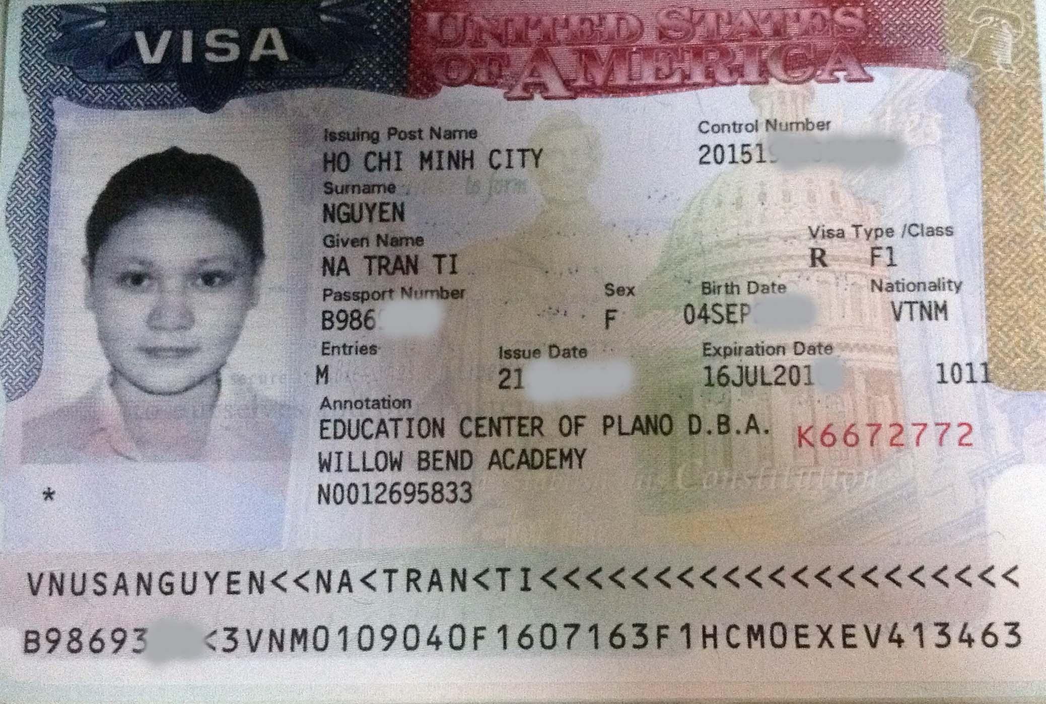 Visa du học Mỹ - Tina