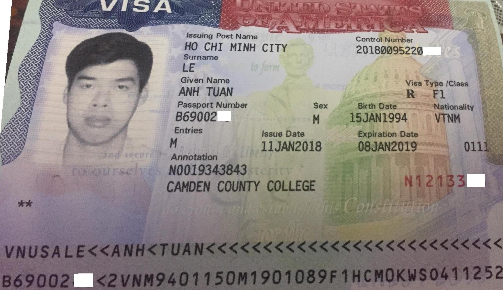 Visa du học Mỹ bang New Jersey trường Camden County College
